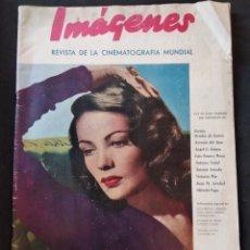 Cine: IMÁGENES, REVISTA DE LA CINEMATOGRAFÍA MUNDIAL, N 8 DIC 1945. GENE TIERNEY. Lote 163069892