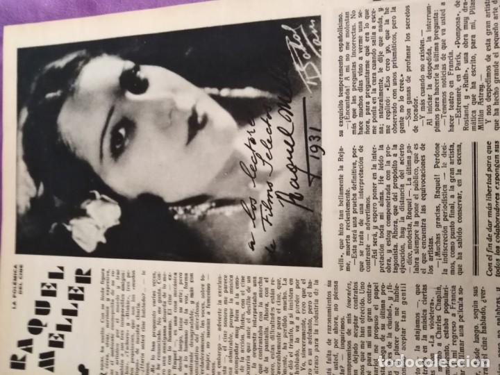 Cine: TOMO ENCUADERNADO FILMS SELECTOS AÑO II N 27 18 DE ABRIL DE 1931 AL N 51 3 DE OCTUBRE DE 1931 - Foto 4 - 163601510