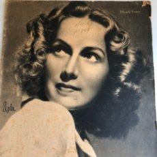 Cine: REVISTA PRIMER PLANO NOVIEMBRE 1942 MARUCHI FRESNO ROBERTO FONT ALBERTO ROMEA. Lote 163737856