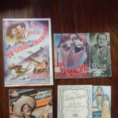 Cinéma: CINE.LOTE DE 35 PROGRAMAS DE MANO CON PUBLICIDAD CINES DE ELCHE,4 DE ELLOS DOBLES,AÑOS 40.. Lote 163955930