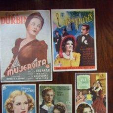 Cinema: CINE.LOTE DE 34 PROGRAMAS DE MANO SENCILLOS CON PUBLICIDAD CINES DE JUMILLA(MURCIA)AÑOS 40.. Lote 163956118