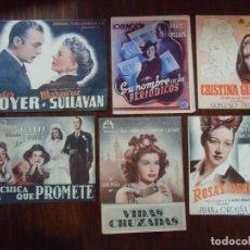 Cinema: CINE.LOTE DE 41 PROGRAMAS DE MANO DOBLES CON PUBLICIDAD CINES DE JUMILLA(MURCIA)AÑOS 40.. Lote 163956498