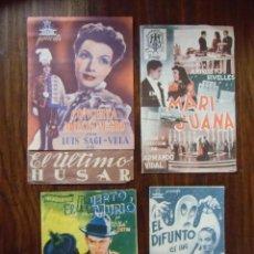 Cinema: CINE.LOTE DE 23 PROGRAMAS DE MANO SIN PUBLICIDAD,4 DE ELLOS DOBLES.. Lote 163956778