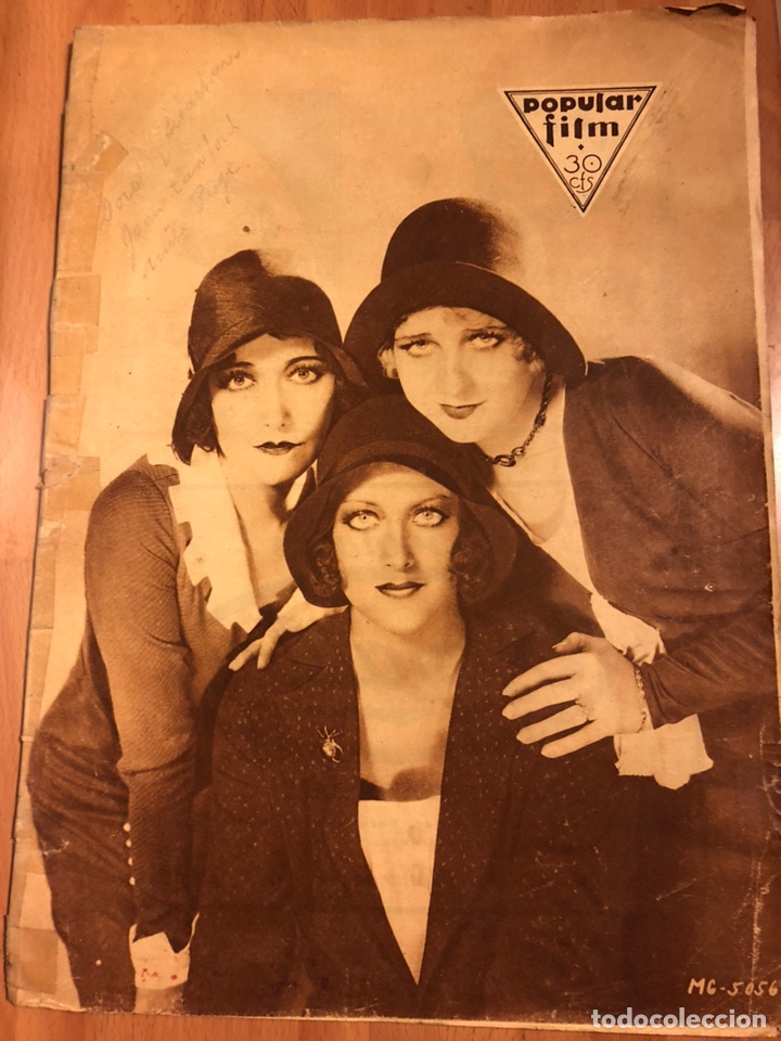 REVISTA POPULAR FILM AGOSTO 1930 JOAB CRAWFORD BUSTER KEATON CLARA BOW GRETA GARBO LUANA ALCAÑIZ (Cine - Revistas - Popular film)