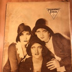 Cine: REVISTA POPULAR FILM AGOSTO 1930 JOAB CRAWFORD BUSTER KEATON CLARA BOW GRETA GARBO LUANA ALCAÑIZ. Lote 164755468