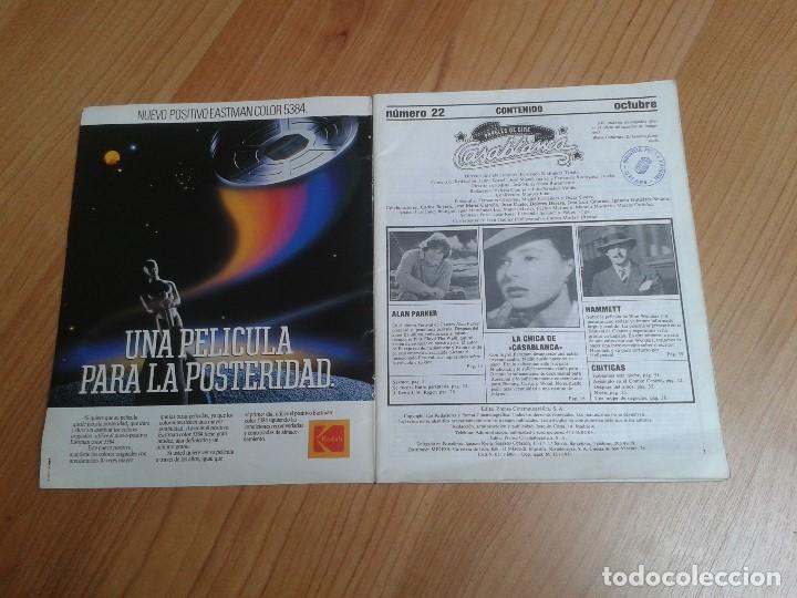 Cine: Papeles de Cine -- nº 22 -- Octubre 1981 - Casablanca, Alan Parker, Win Wenders, Hammett, Bertolucci - Foto 2 - 164811938