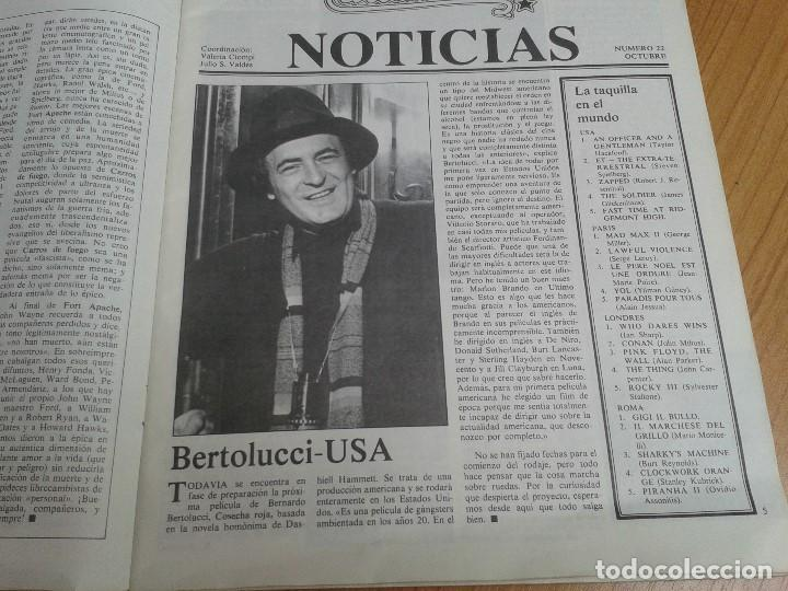Cine: Papeles de Cine -- nº 22 -- Octubre 1981 - Casablanca, Alan Parker, Win Wenders, Hammett, Bertolucci - Foto 4 - 164811938