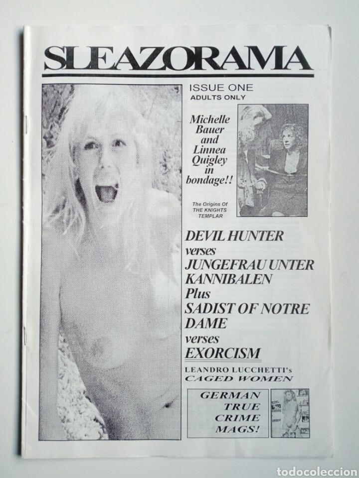 FANZINE - SLEAZORAMA Nº 1 - EDITADO EN USA EN 1993 - EXPLOTATION CINEMA, JESS FRANCO, CAGED WOMEN... (Cine - Revistas - Otros)