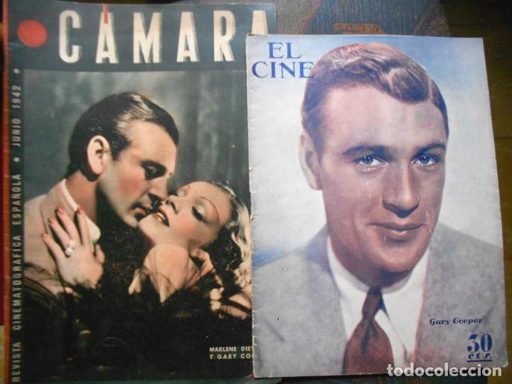 REVISTAS CÁMARA Y EL CINE CON PORTADA DE GARY COOPER Y MARLENE DIETRICH - JUNIO 1942 (Cine - Revistas - Cámara)