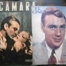 Cine: REVISTAS CÁMARA Y EL CINE CON PORTADA DE GARY COOPER Y MARLENE DIETRICH - JUNIO 1942. Lote 165724258