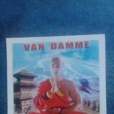 Cine: CARTEL REPRODUCIDO CARTULINA FORMATO FOLLETO. THE MONK. VAN DAMME. NUNCA PROYECTADA EN SALAS.. Lote 165860046