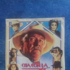 Cine: CARTEL REPRODUCIDO PAPEL REVISTA FORMATO FOLLETO. CITA CON LA MUERTE. LAUREN BACALL. CARRIE FISHER. . Lote 165886402