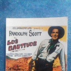 Cine: FOTO CARTEL LOS CAUTIVOS. RANDOLPH SCOTT. MAUREEN O´SULLIVAN. 153 X 103 MM. PAPEL AGFA PRESTIGE. . Lote 165889822