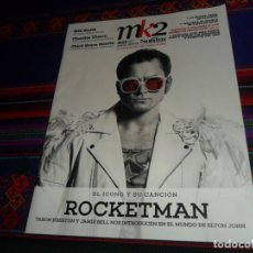 Cine: MK2 Nº 25. MAYO 2019 ROCKETMAN, ELTON JOHN, HELLBOY, WILL SMITH, CHARLIZE THERON, CHLOË GRACE MORETZ. Lote 165951134