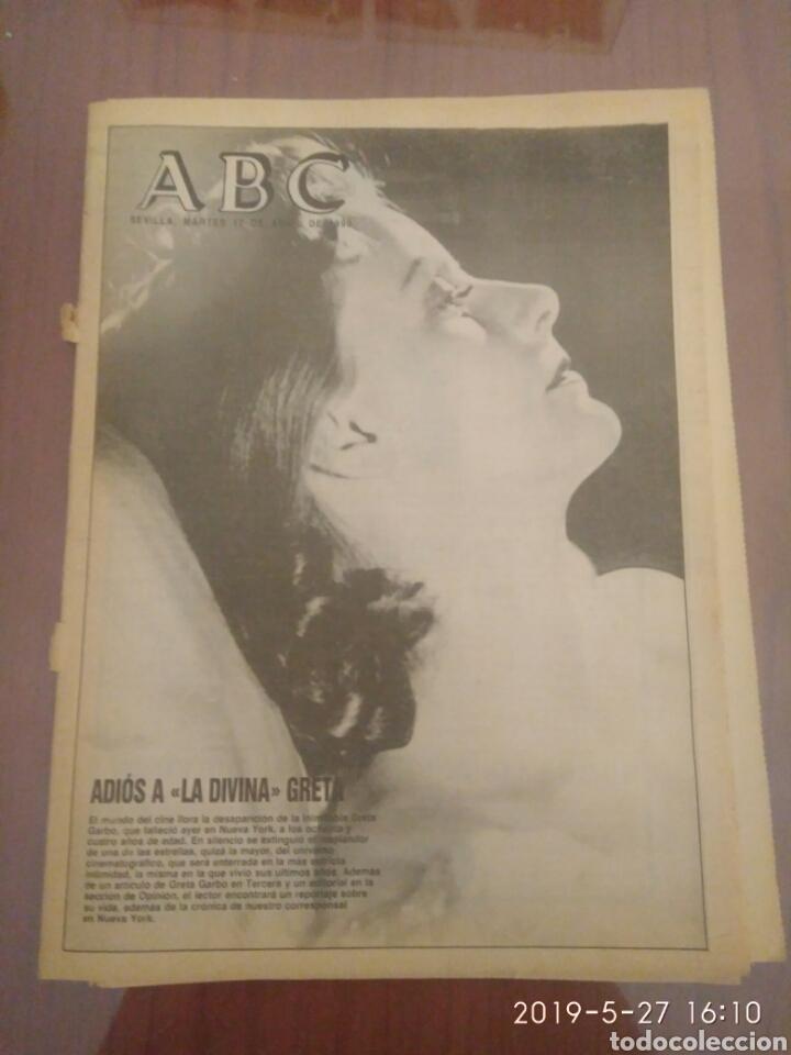 ABC MARTES 17 DE ABRIL DE 1990 HOMENAJE A GRETA GARBO (Cine - Revistas - Otros)