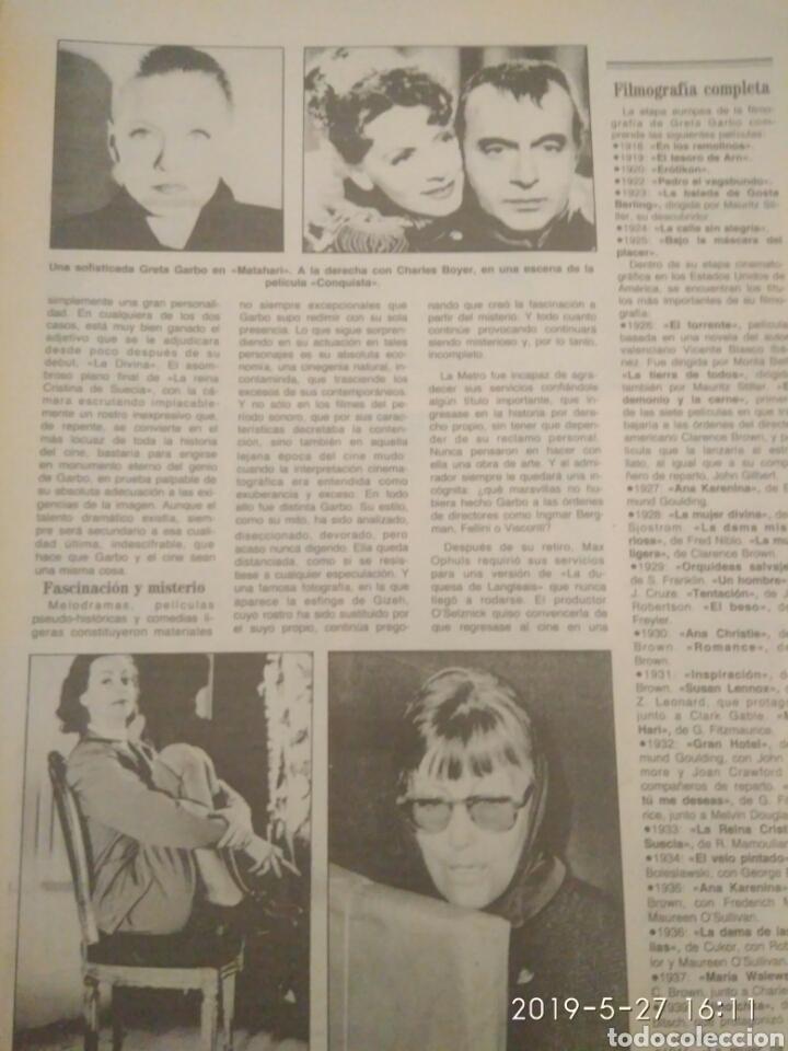 Cine: ABC MARTES 17 DE ABRIL DE 1990 HOMENAJE A GRETA GARBO - Foto 5 - 165988197