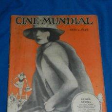 Cine: (M) CINE MUNDIAL ABRIL 1926 RENÉE ADOREE, ILUSTRADO, SEÑALES DE USO. Lote 166109646