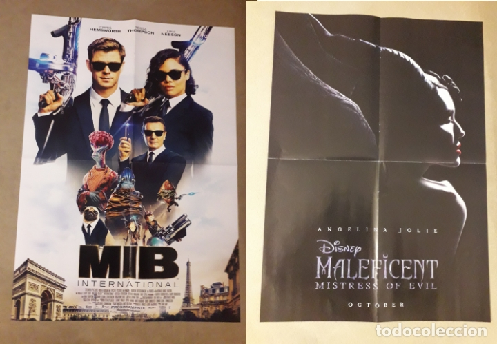 Poster Mib International Chris Hemsworth Hombres De Negro 2019 Maleficent Malefica Angelina Jolie