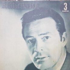 Cine: CONRADO SAN MARTÍN REVISTA RADIOCINEMA N.212 MARZO 1955. Lote 166643785