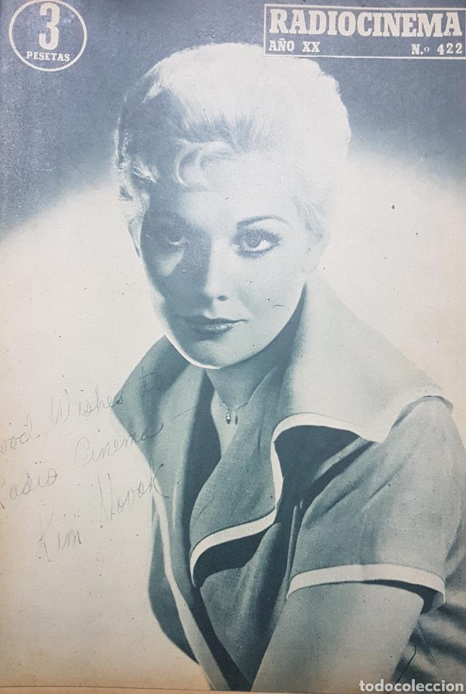 KIM NOVAK REVISTA RADIOCINEMA N. 422 AGOSTO 1958. (Cine - Revistas - Radiocinema)