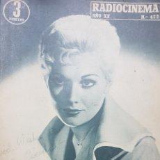 Cine: KIM NOVAK REVISTA RADIOCINEMA N. 422 AGOSTO 1958.. Lote 166644100