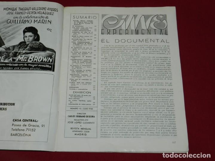 Cine: (M) REVISTA CINES EXPERIMENTAL N.10 JULIO 1946 ILUSTRADO, SOMBRAS CHINESCAS, CHARLOT - Foto 2 - 166795574