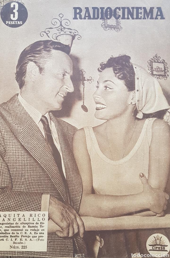 PAQUITA RICO Y ANGELILLO REVISTA RADIOCINEMA N.225 AÑO 1954 (Cine - Revistas - Radiocinema)