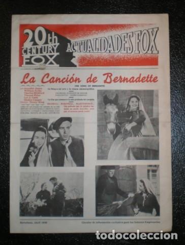 CINE. 20TH CENTURY FOX - ACTUALIDADES FOX - ABRIL 1946 (Cine - Revistas - Otros)