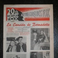 Cine: CINE. 20TH CENTURY FOX - ACTUALIDADES FOX - ABRIL 1946. Lote 167286652
