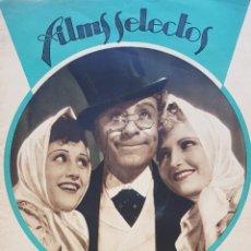 Cine: MIGUEL LIGERO, RAQUEL RODRIGO Y CHARITO LEONIS REVISTA FILMS SELECTOS N 269 AÑO 1935. Lote 167367434