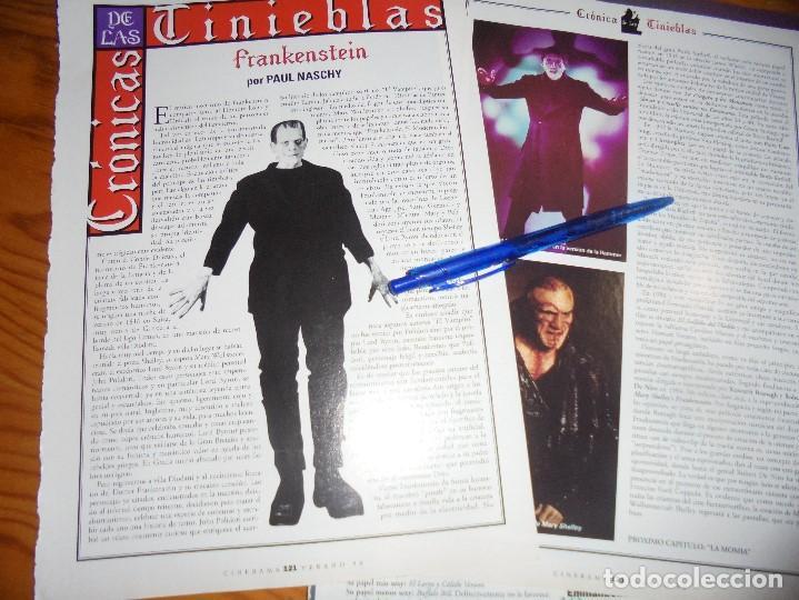 RECORTE : CRONICAS DE LAS TINIEBLAS : FRANKENSTEIN. PAUL NASCHY. CINERAMA, JULIO 1996 (Cine - Revistas - Cinerama)