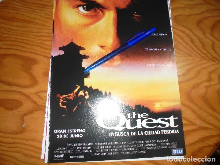 RECORTE : PUBLICIDAD PELICULA : THE QUEST. JEAN-CLAUDE VAN DAMME. CINERAMA,JULIO 1996 (Cine - Revistas - Cinerama)