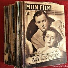 Cine: EXTENSO LOTE DE 87 EJEMPLARES DE LA REVISTA MON FILM. Lote 167969400
