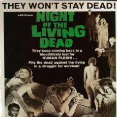 Cinema: NIGHT OF THE LIVING DEAD.LA NOCHE DE LOS MUERTOS VIVIENTES.GEORGE A. ROMERO. JUDITH O'DEA.. Lote 168102272