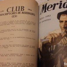 Cine: REVISTA MERIDIANO.SÍNTESIS DE LA PRENSA MUNDIAL.18 TOMOS,AÑOS 1953 A 1958 ,COMPLETOS.. Lote 168237696
