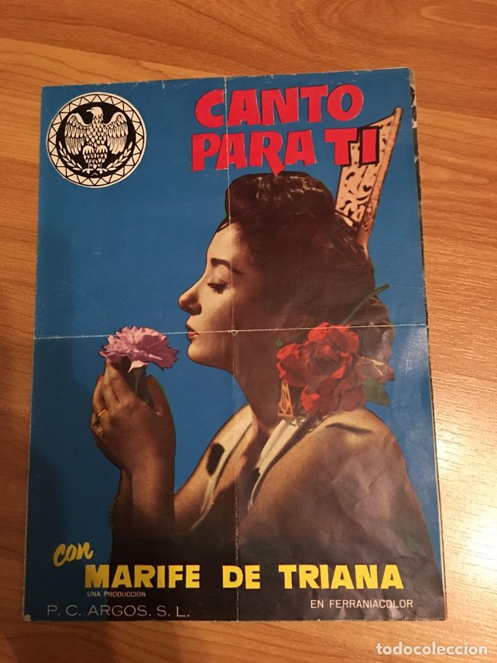 MARIFE DE TRIANA - GUIA CANTO PARA TI (Cine - Reproducciones de carteles, folletos...)