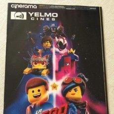 Cinema: CINERAMA N 279 2019 LA LEGO PELICULA COMO ENTRENAR A TU DRAGON 3 ALITA ANGEL DE COMBATE HUGH JACKMAN. Lote 168536592