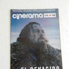 Cine: CINERAMA Nº 246 FEBRERO 2016. EL RENACIDO LEONARDO DI CAPRIO. . Lote 168610488