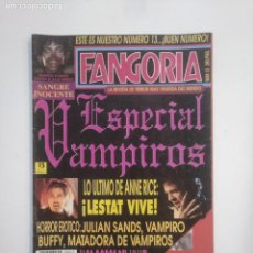 Cinema: REVISTA FANGORIA Nº 13 ESPECIAL VAMPIROS. TERROR. MONSTRUOS. EDICIONES ZINCO. TDKC40. Lote 168695752