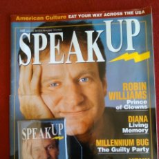 Cine: VOZ DE TUS ACTORES PREFERIDOS: SPEAKUP REVISTAS DE CINE Y CASET ROBIN WILLIAMS. Lote 168794908