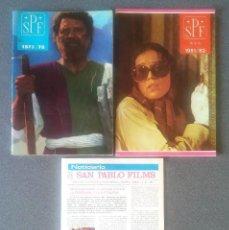 Cine: LOTE REVISTAS CATALOGOS CINE SAN PABLO FILMS. Lote 168841840