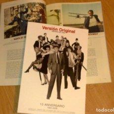 Cine: REVISTA DE CINE VERSION ORIGINAL Nº 166 DICIEMBRE 2008 15 ANIVERSARIO 1993-2008. Lote 178340278