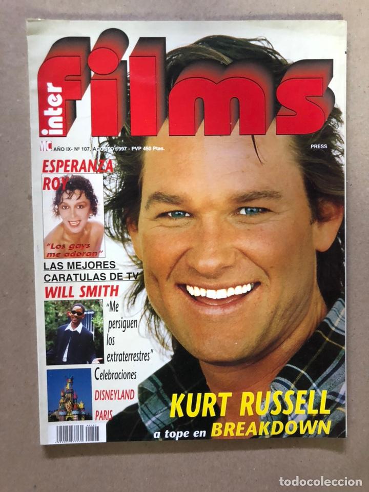 INTERFILMS N°107 (AGOSTO, 1997). KURT RUSSELL, ESPERANZA ROY, WILL SMITH, CON CARÁTULAS DE PELÍCULAS (Cine - Revistas - Interfilms)