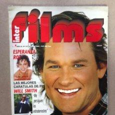 Cine: INTERFILMS N°107 (AGOSTO, 1997). KURT RUSSELL, ESPERANZA ROY, WILL SMITH, CON CARÁTULAS DE PELÍCULAS. Lote 169442914