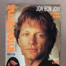 Cine: INTERFILMS N°104 (MAYO, 1997). HON BON JOVI, MARIBEL VERDÚ, JUAN DIEGO BOTTO, CON CARÁTULAS. Lote 169443174