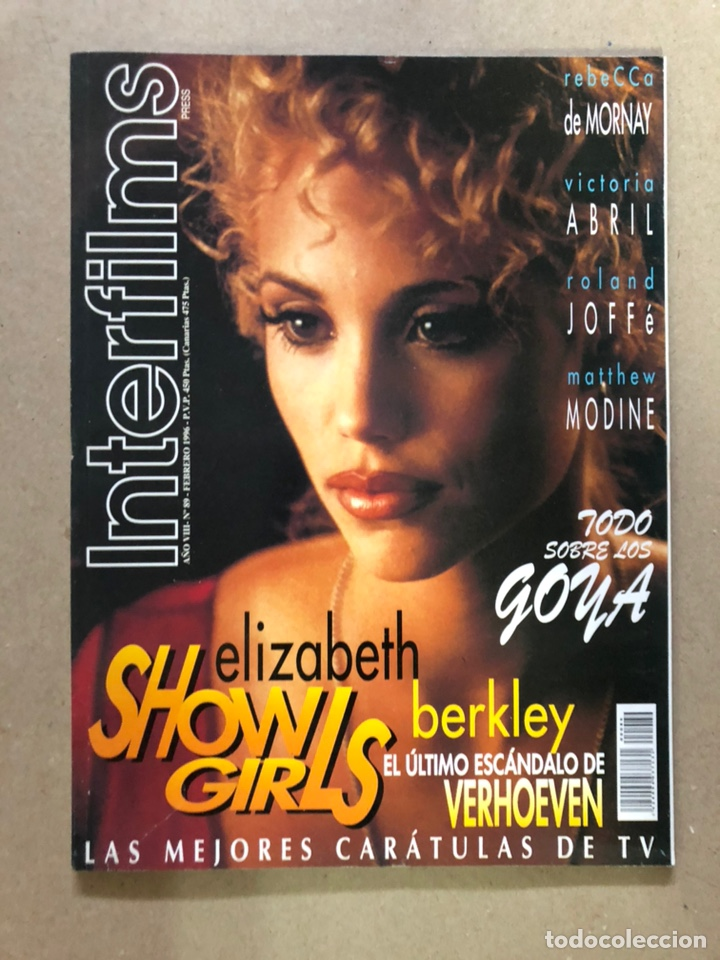 INTERFILMS N° 89 (FEBRERO, 1996). ELIZABETH BERKLEY SHOWGIRLS, VICTORIA ABRIL, LOS GOYA,... (Cine - Revistas - Interfilms)