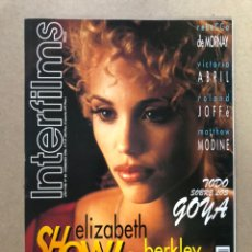 Cine: INTERFILMS N° 89 (FEBRERO, 1996). ELIZABETH BERKLEY SHOWGIRLS, VICTORIA ABRIL, LOS GOYA,.... Lote 187290901