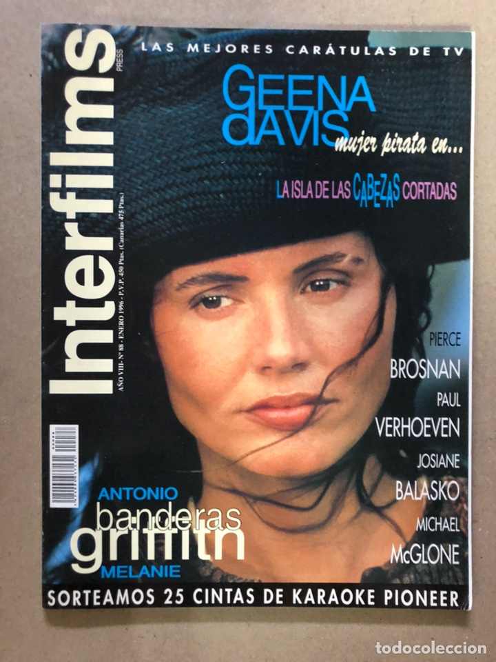 INTERFILMS N° 88 (EMERO, 1996). ANTONIO BANDERAS, MELANIE GRIFFITH, PAUL VERHOEVEN,... (Cine - Revistas - Interfilms)