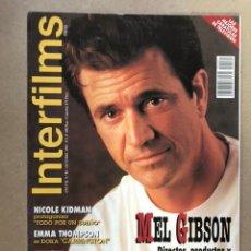 Cinema: INTERFILMS N° 85 (OCTUBRE, 1995). MEL GIBSON BRAVEHEART, NIKOLE KIDMAN, EMMA THOMPSON,.... Lote 169446184