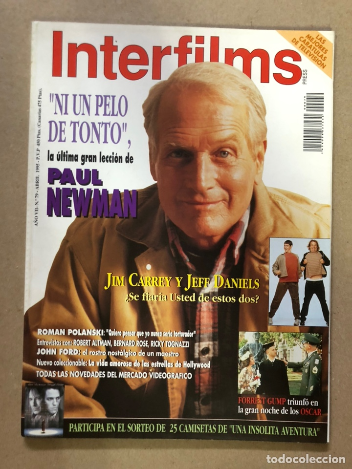 INTERFILMS N° 79 (ABRIL, 1995). PAUL NEWMAN, ROMAN POLANSKI, JOHN FORD, ROBERT ALTMAN,... (Cine - Revistas - Interfilms)